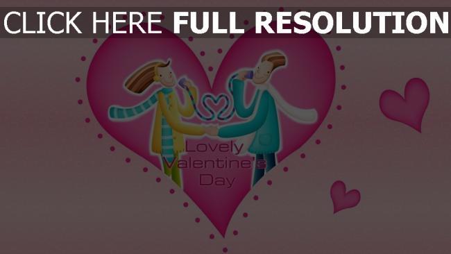 hd hintergrundbilder valentinstag paar herz muster symbole rosa
