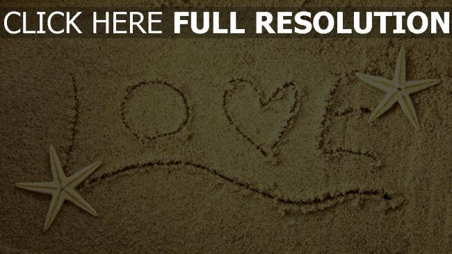 hd hintergrundbilder romantik text buchstaben muscheln sand