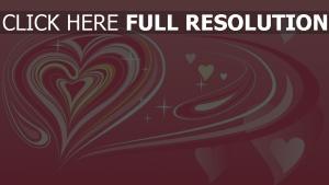 valentinstag herzen muster symbole rosa