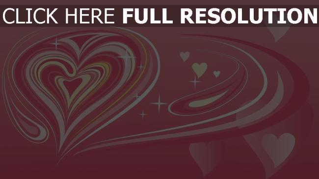 hd hintergrundbilder valentinstag herzen muster symbole rosa