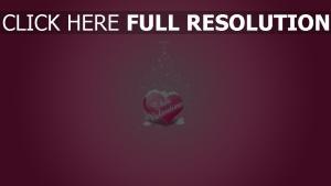 valentinstag herz schnee rosa
