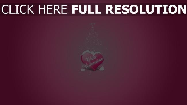hd hintergrundbilder valentinstag herz schnee rosa