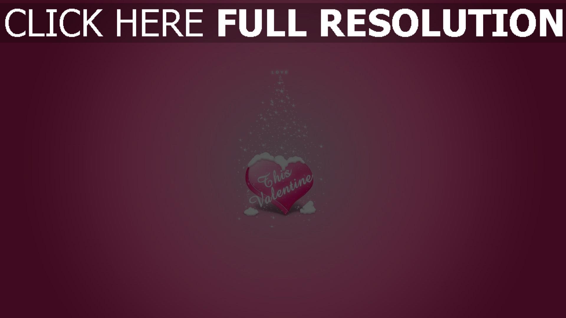 Hd Hintergrundbilder Valentinstag Herz Schnee Rosa 1920x1080