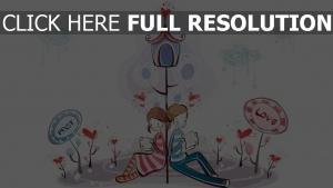 paar romantisch valentinstag briefe lesen