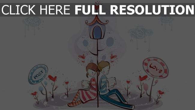 hd hintergrundbilder paar romantisch valentinstag briefe lesen