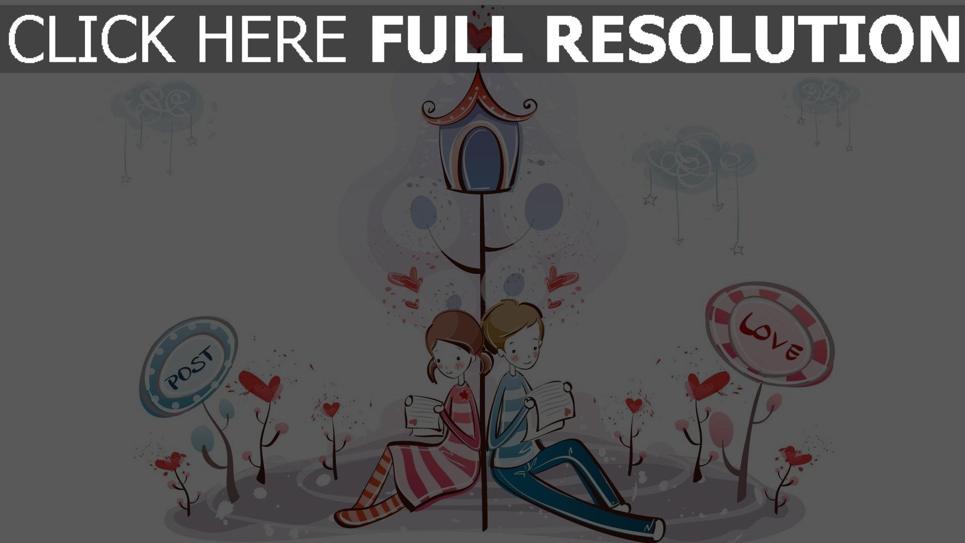 hd hintergrundbilder paar romantisch valentinstag briefe lesen 1920x1080