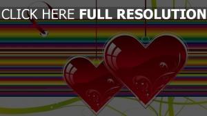 herz valentinstag streifen mehrfarbig