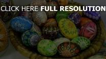 ostern eier schüssel zeichnungen dekorative
