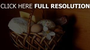 korb käse eier ostern
