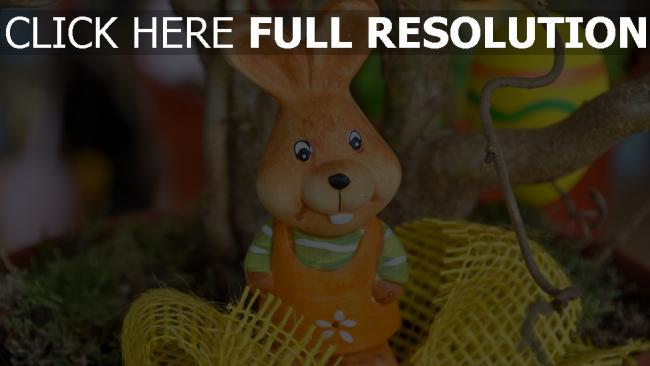 hd hintergrundbilder kaninchen ostern dekoration