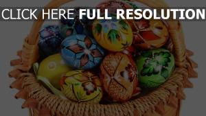 korb ostereier zeichnungen dekorative