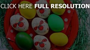 eier gefärbt tablett ostern