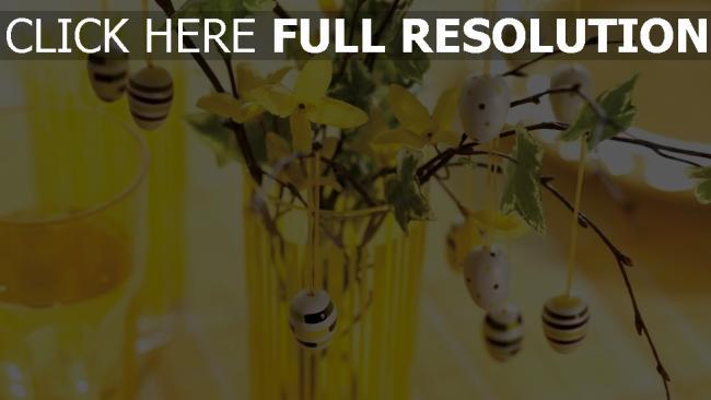 hd hintergrundbilder ostern zweige ei dekoration farbe gelb