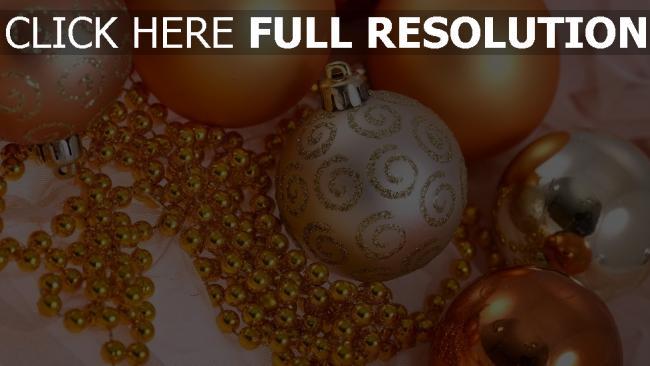 hd hintergrundbilder glitter perlen luftballons weihnachtsschmuck gold close-up