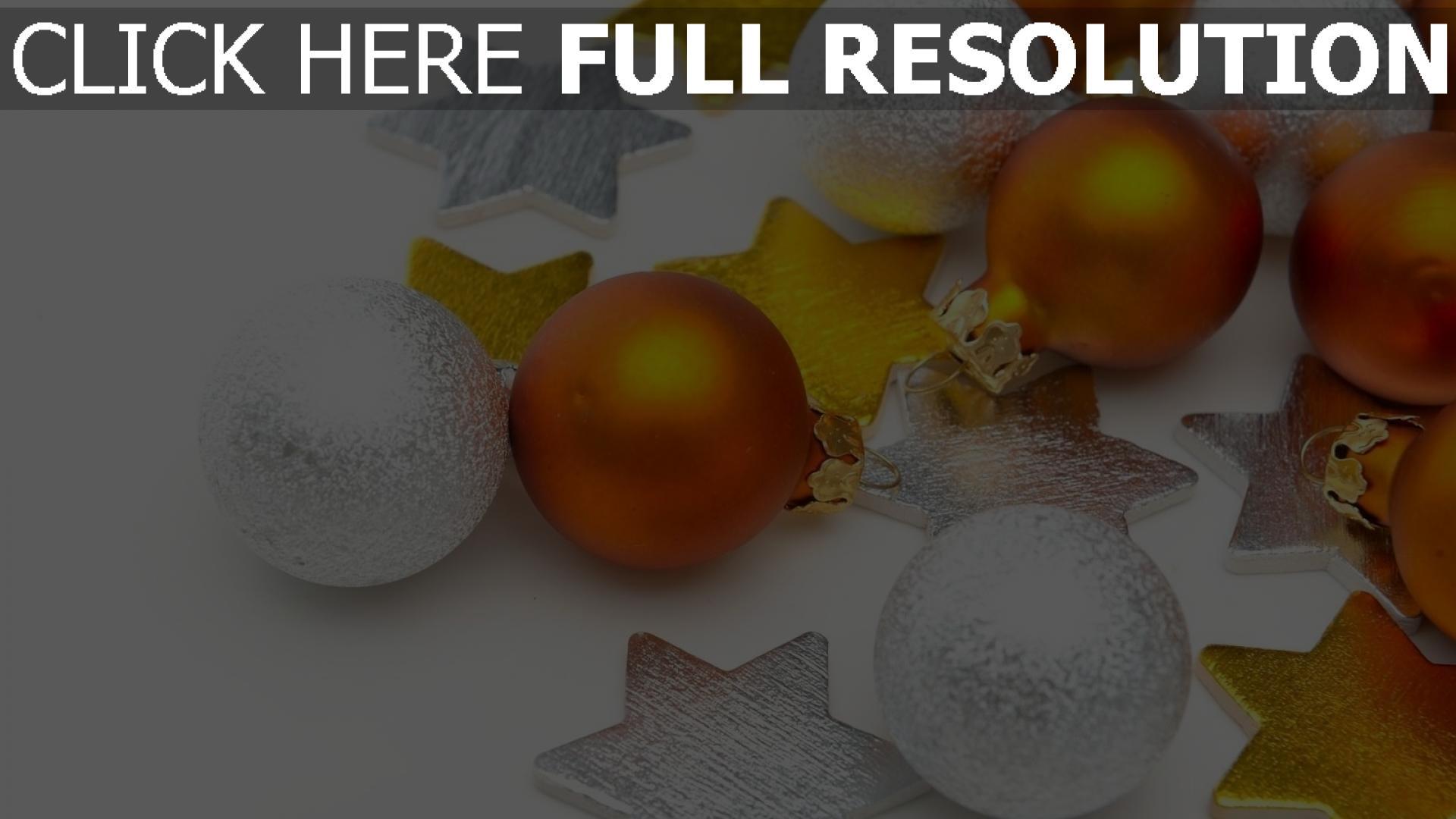 hd hintergrundbilder sterne silber luftballons hintergründe weihnachtsdekorationen tapeten gold 1920x1080