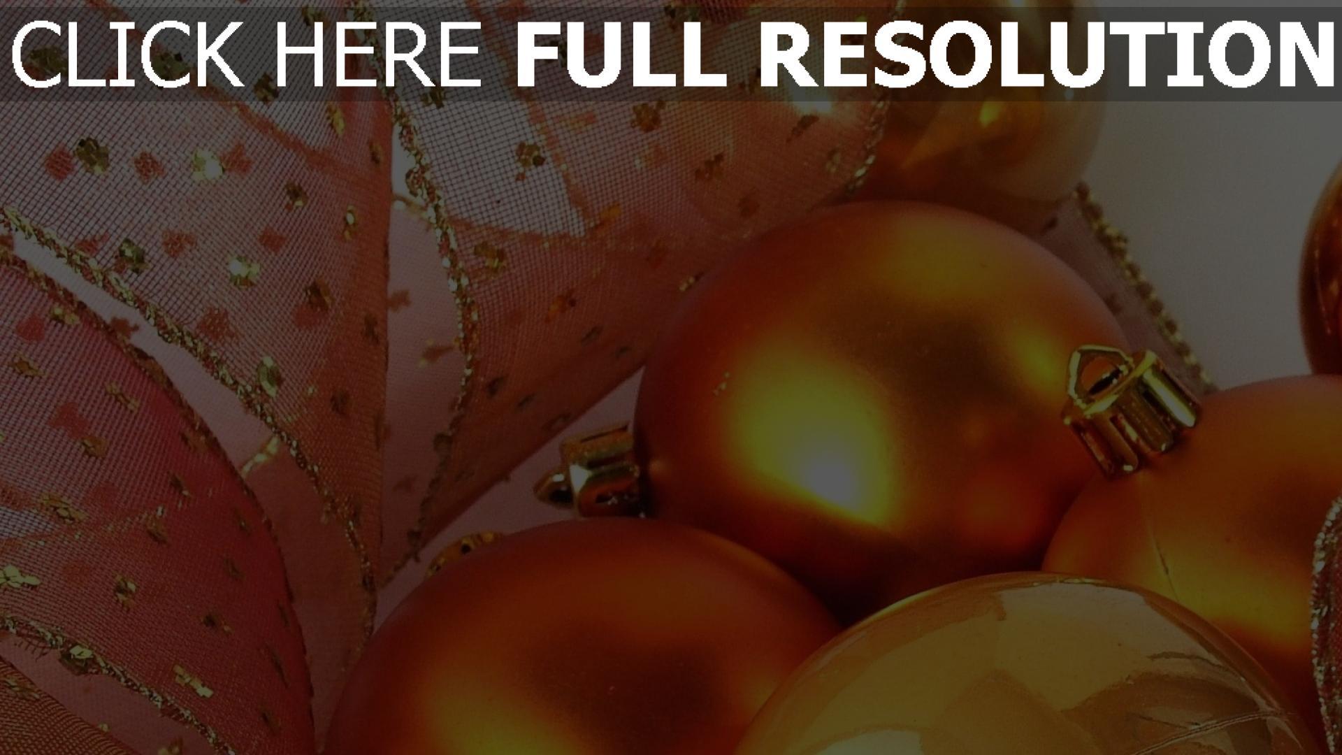 hd hintergrundbilder band close-up luftballons hintergründe dekorationen weihnachten tapeten gold 1920x1080