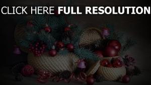 gewinde kegel luftballons weihnachtsdekorationen nadeln glocken band körbe