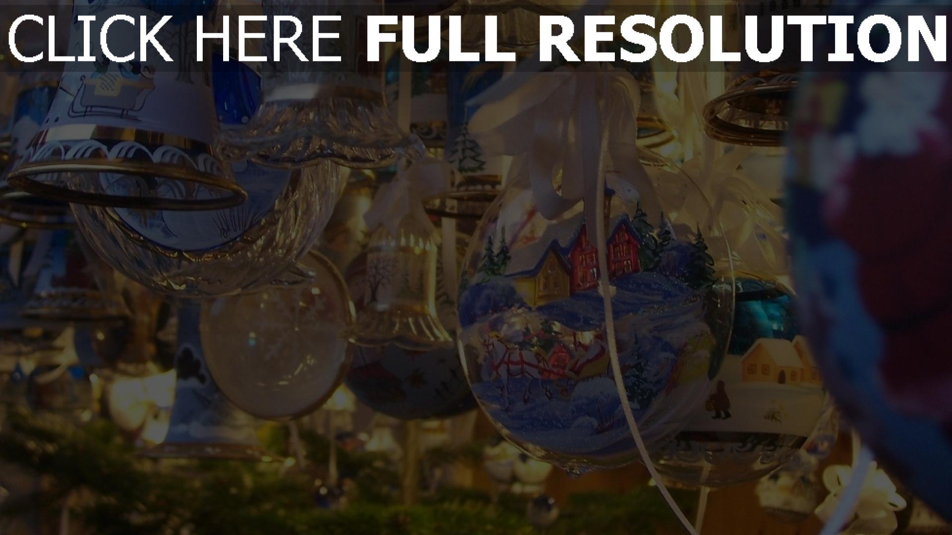 hd hintergrundbilder luftballons bändern weihnachtsschmuck hintergründe glocken tapeten bilder schön 1920x1080