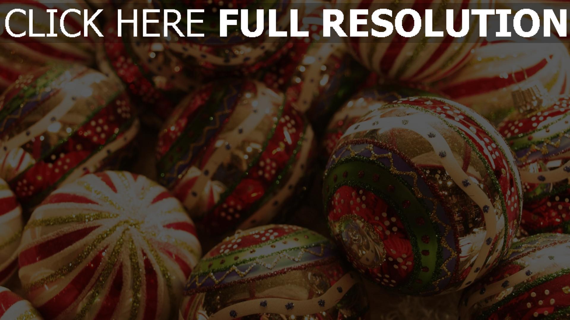 hd hintergrundbilder urlaub glitter weihnachten weihnachtsdekorationen neues jahr close-up 1920x1080