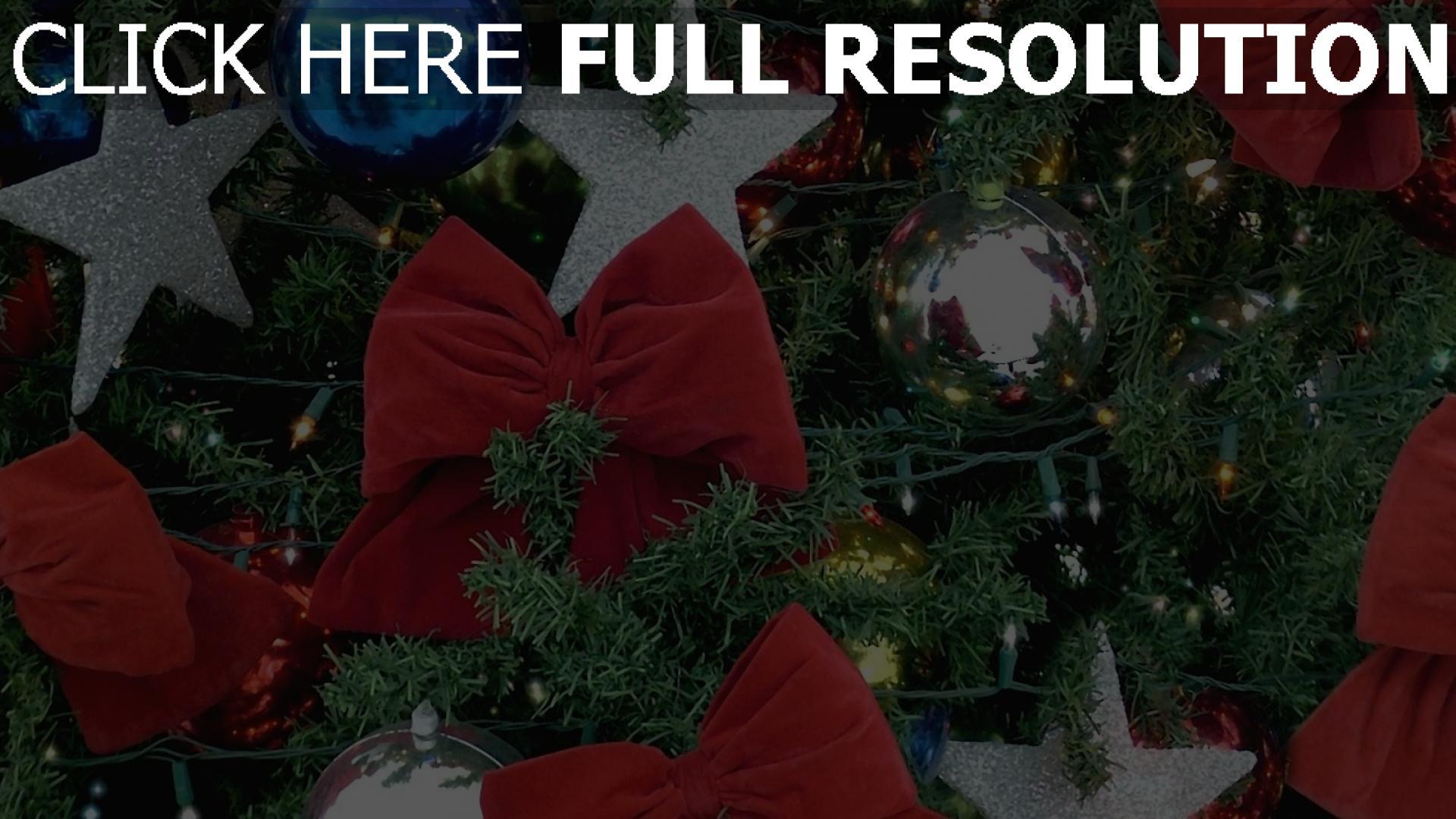 hd hintergrundbilder spielzeug urlaub girlanden weihnachtsbaum bögen neues jahr 1920x1080