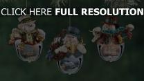 zweig weihnachten weihnachtsschmuck schneemänner neues jahr urlaub close-up