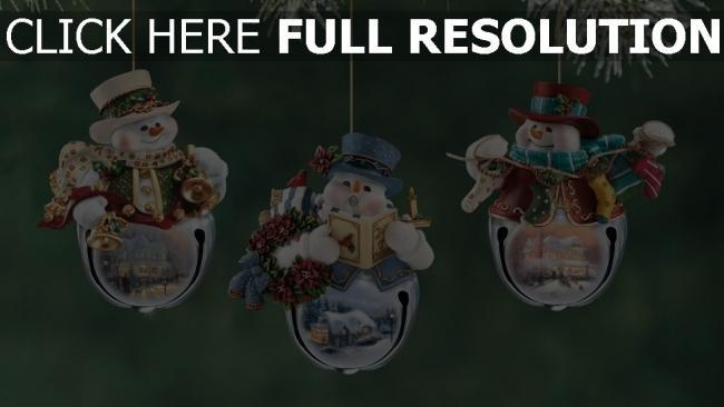 hd hintergrundbilder zweig weihnachten weihnachtsschmuck schneemänner neues jahr urlaub close-up