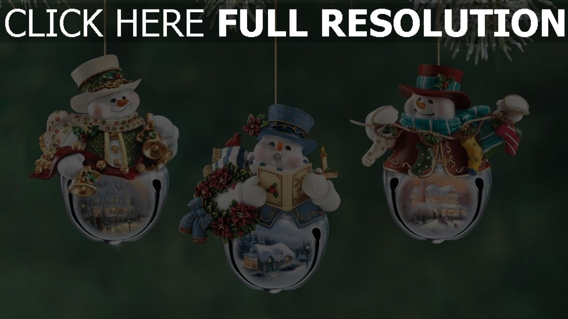 hd hintergrundbilder zweig weihnachten weihnachtsschmuck schneemänner neues jahr urlaub close-up 1920x1080