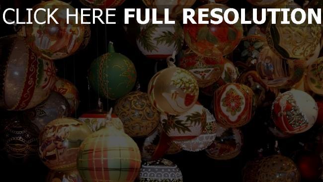 hd hintergrundbilder muster viele luftballons weihnachtsschmuck verschiedene fäden urlaub hängend