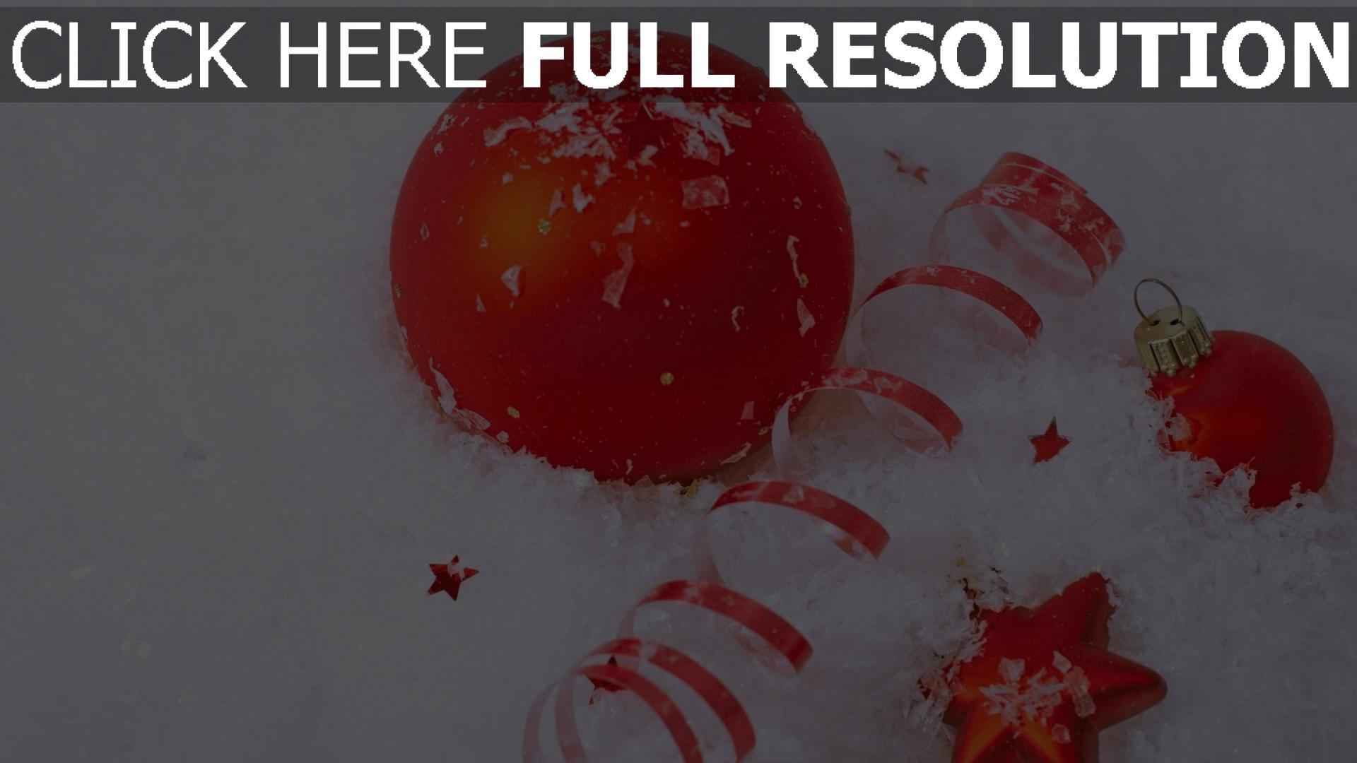 hd hintergrundbilder stern attribute luftballons weihnachtsschmuck schnee urlaub 1920x1080
