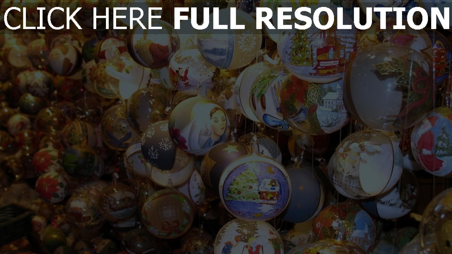 hd hintergrundbilder luftballons schaufenster neues jahr weihnachtsdekorationen attribute 1920x1080