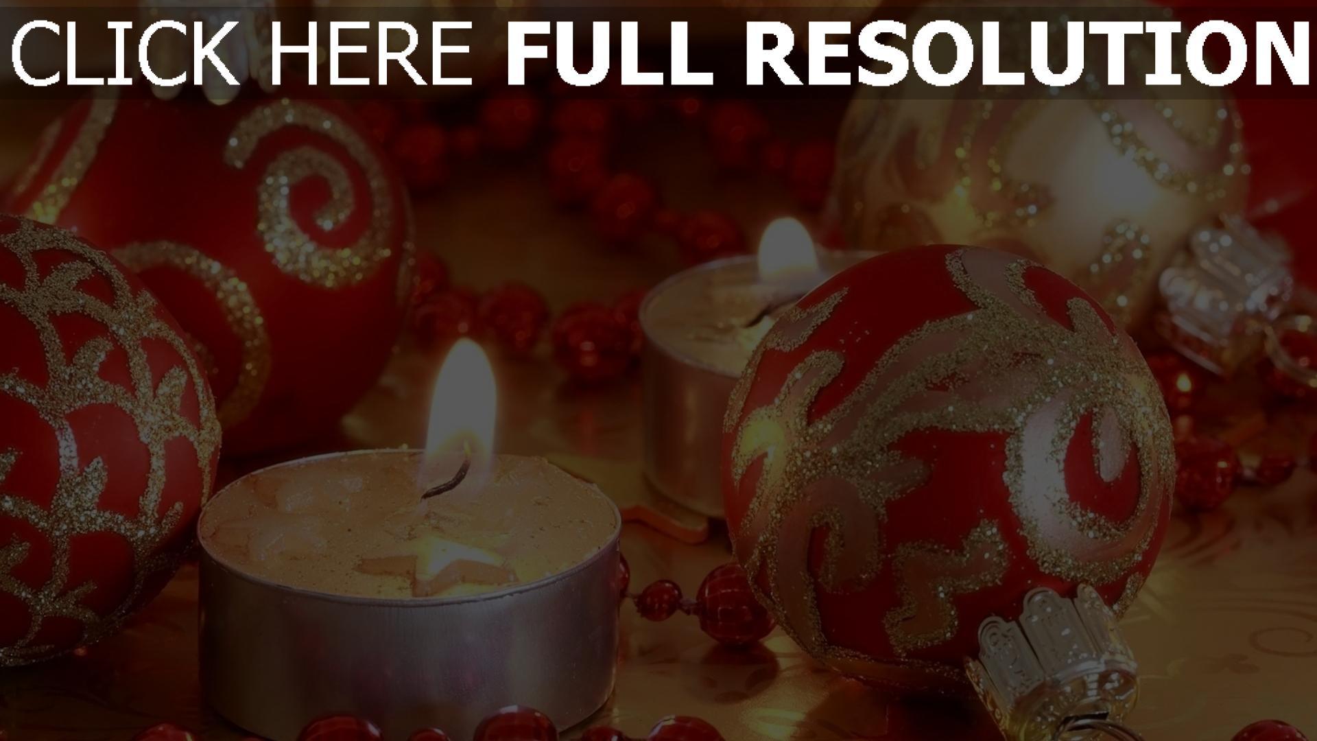 hd hintergrundbilder weihnachtsdekorationen close-up weihnachten neujahr kerzen 1920x1080