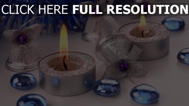 hd hintergrundbilder weihnachtsdekorationen attribute glocken kerzen lametta weihnachten feiertag neues jahr