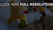feiertag wolle weihnachten neujahr schneemänner balkon