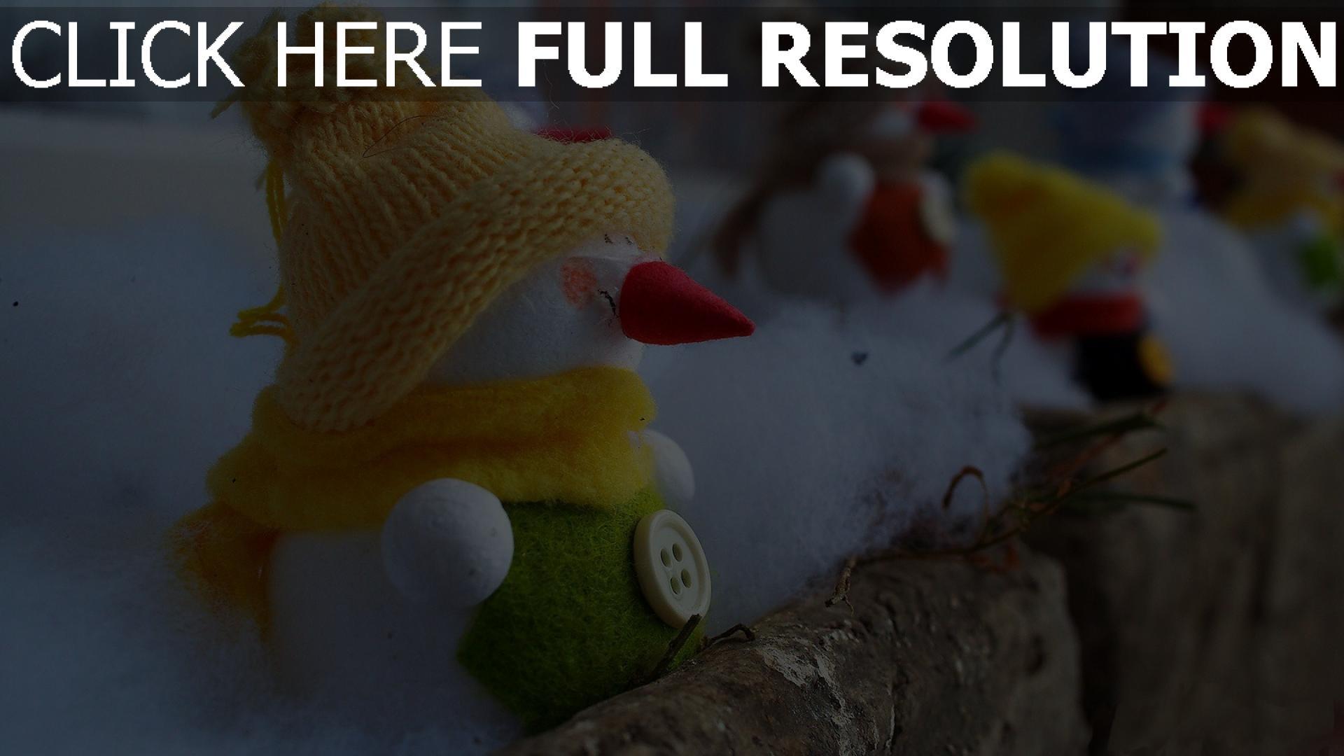 hd hintergrundbilder feiertag wolle weihnachten neujahr schneemänner balkon 1920x1080