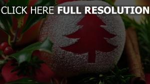 tisch laub feiertag neues jahr apfel zimt beeren tannennadeln zweig weihnachtsbaum