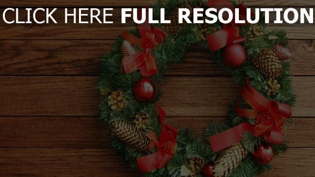 hd hintergrundbilder kranz kegel weihnachten neujahr tannennadeln glocken bögen