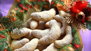 lebensmittel bögen neujahr weihnachten kegel süßigkeiten
