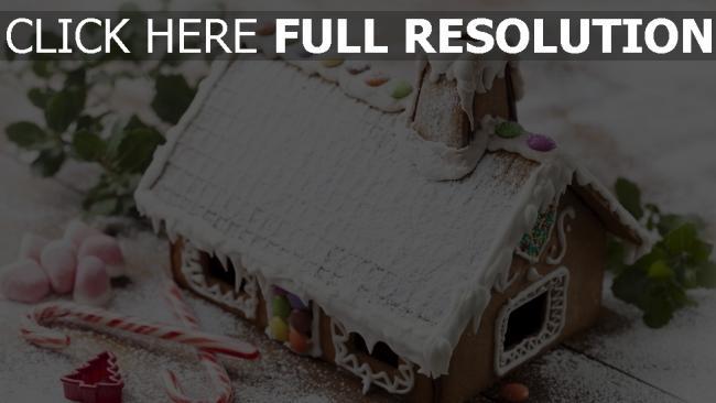 hd hintergrundbilder weihnachtstapete süßigkeiten feiertag neues jahr dekorationen lebkuchenhaus