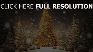 bäume karte weihnachten neujahr wald schnee urlaub nacht