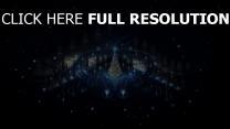 feiertag weihnachten girlanden baum feuerwerk nacht