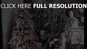 attrappe feiertag weihnachtsschmuck baum schaufenster neues jahr