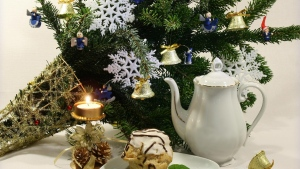 fest spielzeug neujahr weihnachten nadeln glocken kuchen krug schneeflocke
