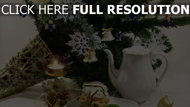 hd hintergrundbilder fest spielzeug neujahr weihnachten nadeln glocken kuchen krug schneeflocke