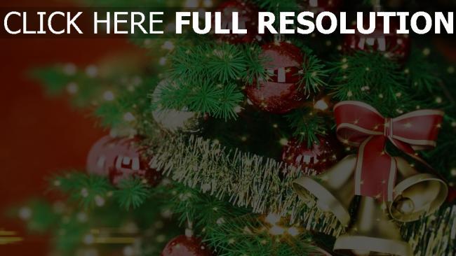 hd hintergrundbilder baum glocken weihnachten neujahr spielzeug band feiertag