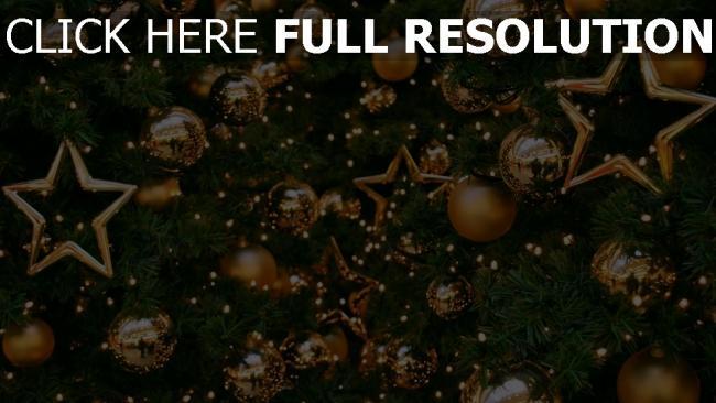 hd hintergrundbilder luftballons gold dekorationen baum sterne neues jahr feiertag weihnachten