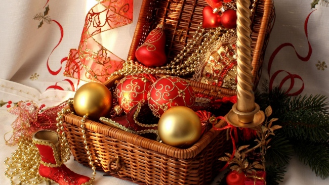 hd hintergrundbilder dekorationen schuh luftballons weihnachtsschmuck kerzen faden box nadeln neues jahr