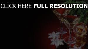 getränke nadeln gläser weihnachtsdekorationen faden schneeflocken feiertag