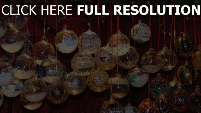 hd hintergrundbilder schnur nadeln luftballons weihnachtsdekorationen zweige neujahr weihnachten