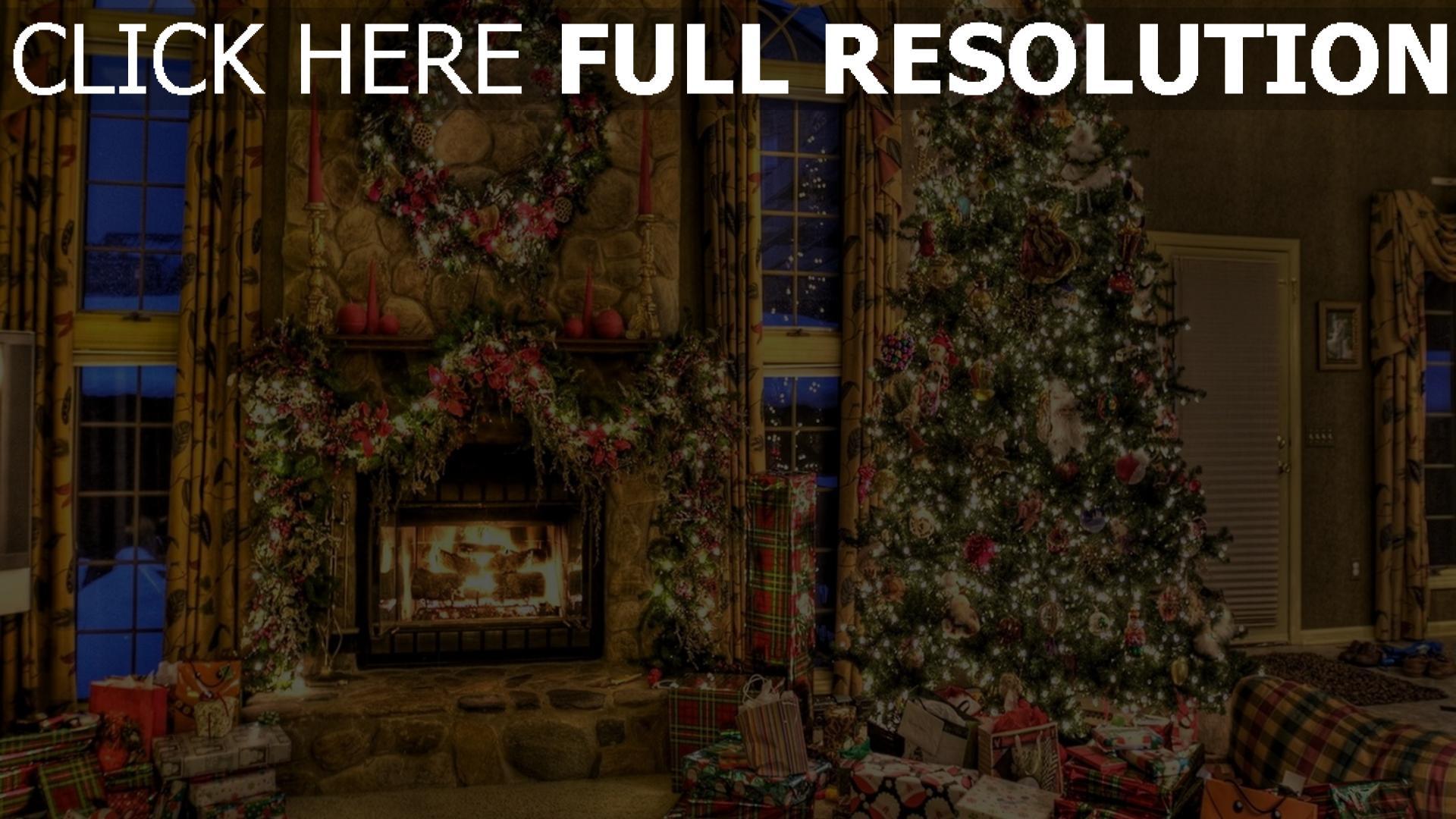 hd hintergrundbilder geschenke kranz weihnachten baum. Black Bedroom Furniture Sets. Home Design Ideas