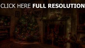 feiertag kamin weihnachten baum kranz spielzeug strümpfe